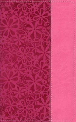 NIV Adventure Bible, Italian Duo-Tone, Raspberry/Pink  -     By: Lawrence O. Richards