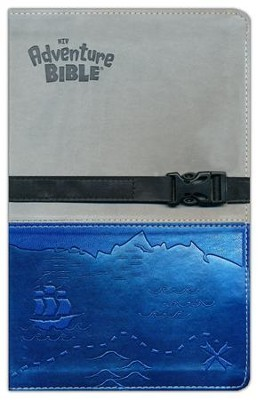 NIV Adventure Bible, Italian Duo-Tone, Clip Closure, Gray/Blue  -     By: Lawrence O. Richards