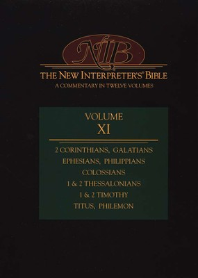 New Interpreter's Bible Volume 11: 2 Corinthians - Philemon  -     Edited By: Leander E. Keck