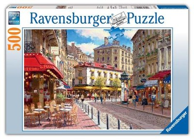Quaint Shops, 500 Piece Puzzle   -