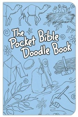 The Pocket Bible Doodle Book, Blue   -