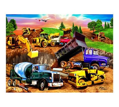 Construction Crowd, 60 Piece Puzzle   -