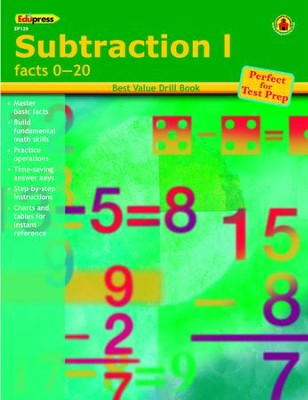 Best Value Math Drill Book: Subtraction 1   -