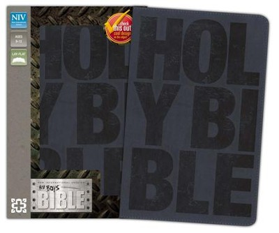NIV Boys Bible, Italian Duo-Tone, Slate Blue  -