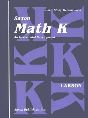 Saxon Math K, Meeting Book   -
