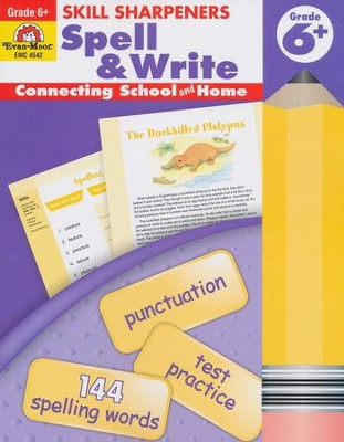 Skill Sharpener: Spell & Write, Grade 6   -