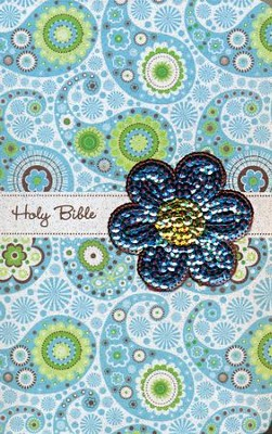 NIV Sequin Bible Blue Sparkle  -