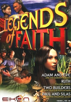 Legends of the Faith Comic #3 - Stories of Adam and Eve, Ruth, the Two Builders, and Paul and Silas  -