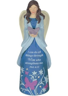 I Can Do All Things Through Christ, Angel Figurine  -