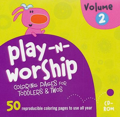Play-n-Worship Coloring Pages for Toddlers & Twos, Volume 2 on CD-ROM  -