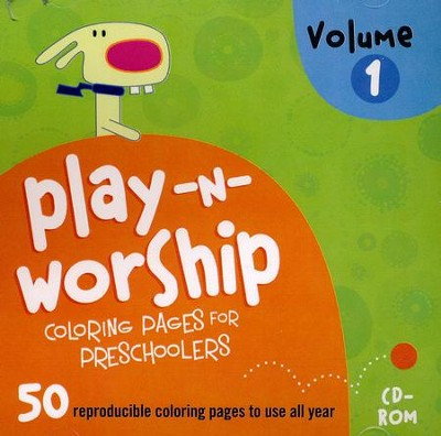 Play-n-Worship Coloring Pages for Preschoolers, Volume 1 on CD-ROM  -