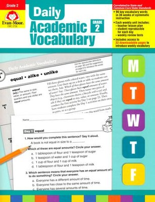 Daily Academic Vocabulary, Grade 2  -