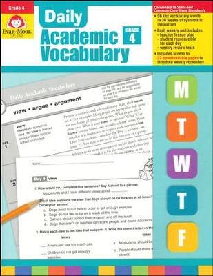 Daily Academic Vocabulary, Grade 4  -