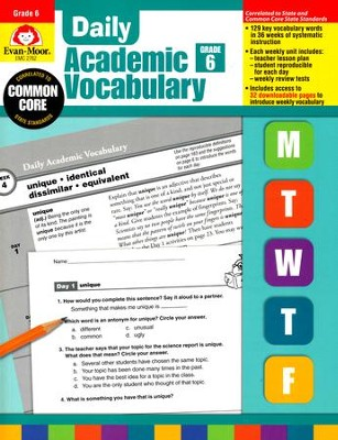 Daily academic vocabulary grade 6 9781596732056 christianbook daily academic vocabulary grade 6 fandeluxe Image collections