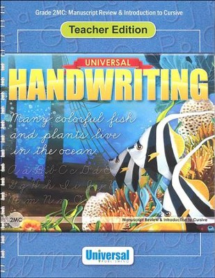 Universal Handwriting: Manuscript Review & Intro to Cursive, Teacher Edition (Grade 2MC)  -