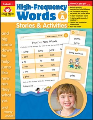 High-Frequency Words: Stories and Activities, Level A Grades K-1  -
