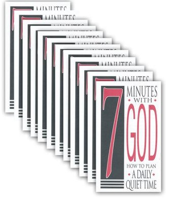 Seven Minutes with God: How to Plan a Daily Quiet Time Pack of 25  -