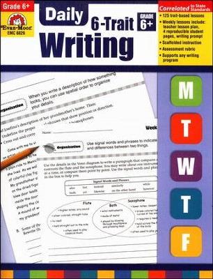 Daily 6-Trait Writing, Grade 6    -