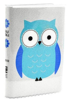 NIV Glitter Bible Collection--soft leather-look, turquoise/owl  -