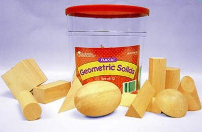 Hardwood Geometric Solids, Set of 12   -     By: Homeschool