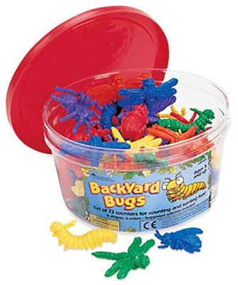 Backyard Bugs Counters, Set of 72  -     By: Homeschool