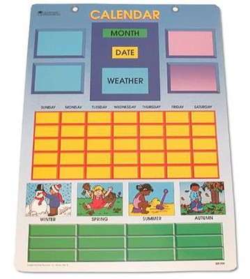 Magnetic Learning Calendar  -