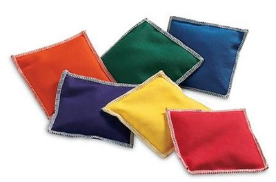 Rainbow bean bags, Set of 6  -