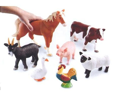 Jumbo Farm Animals, Set of 7   -