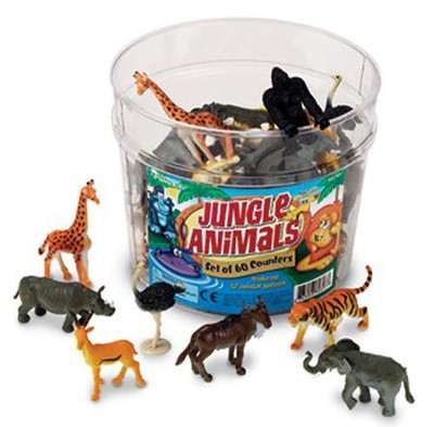 Jungle Animal Counters, Set of 60   -