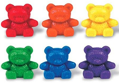 Baby Bear &#153 Counters, 6 colors, Set of 102   -     By: Homeschool