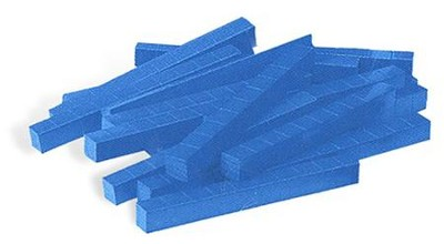 Blue Plastic Base Ten Components: Rods, Set of 50   -