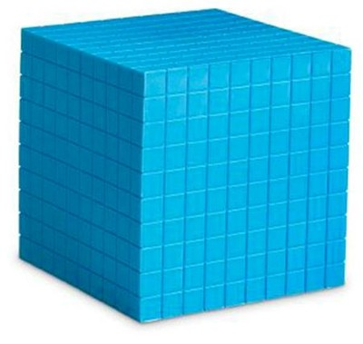 Blue Plastic Base Ten Components: Cube   -