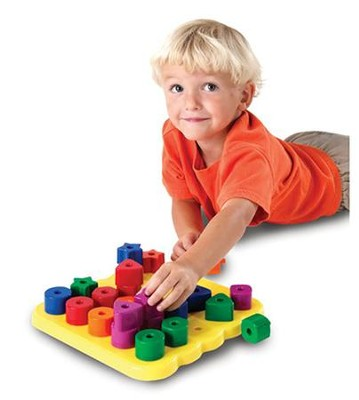 Stacking Shapes Pegboard   -