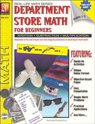 Real Life Math: Department Store Math for Beginners   -