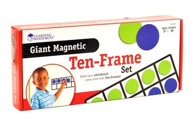 Giant Magnetic Ten-Frame Set (4 Frames, 40 Pieces)   -