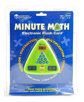 Minute Math Electronic Flash Card   -