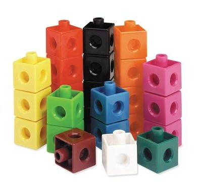 Snap Cubes (Set of 100)  -     By: Homeschool