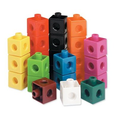 Snap Cubes (Set of 500)  -     By: Homeschool