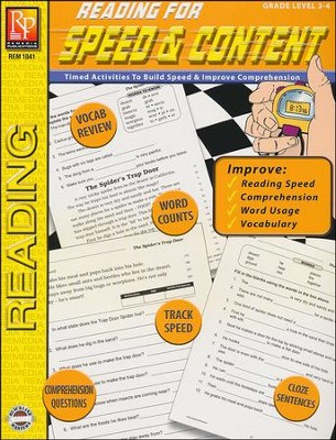 Reading for Speed & Content Grades 3-4   -