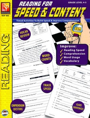 Reading for Speed & Content Grades 4-5   -