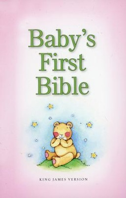 KJV Baby's First Bible, Pink  -     By: Zondervan