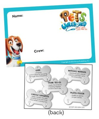Pets Unleashed VBS: Name Badges, pack of 10   -