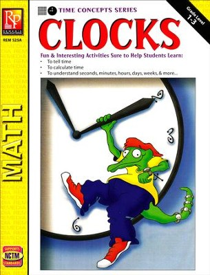 Time Concepts Series: Clocks, Grades 1-3   -