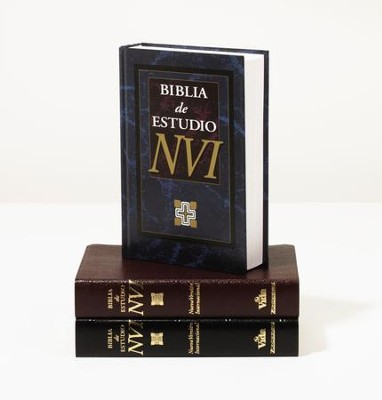 Biblia de Estudio NVI, Piel Imit. Negra  (NIV Study Bible, Imit. Leather Black)  -