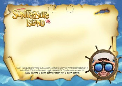 VBS 2014 SonTreasure Island- Name Tags: 50 Pack  -