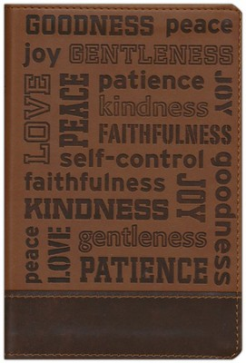 NIV, Fruit of the Spirit Bible Collection, Italian Duo-Tone, Brown - Slightly Imperfect  -