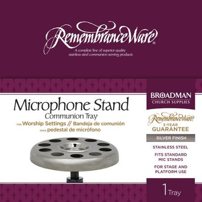 RemembranceWare Silver Microphone Stand Tray   -