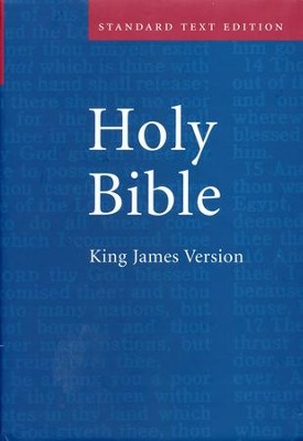 KJV Standard Text Bible, Hardcover, Red Letter   -