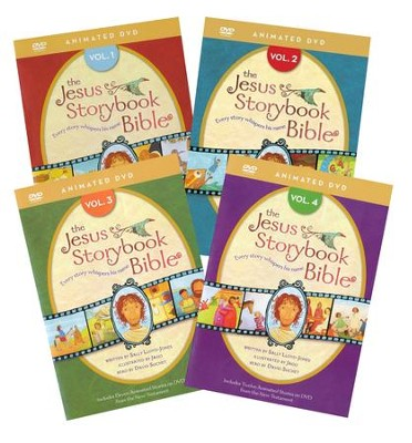 The Jesus Storybook Bible Animated DVD, Volumes 1-4  -     Narrated By: David Suchet     By: Sally Lloyd-Jones     Illustrated By: Jago