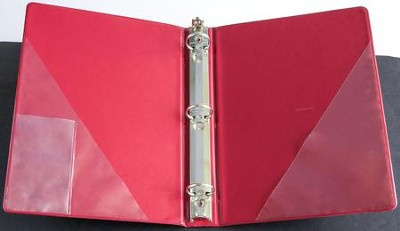 1 Three-Ring Anthem Binder, Crimson   -
